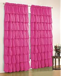 Purple Waterfall Ruffle Curtains by Amazon Com Lorraine Home Fashions Gypsy Shabby Chic Layered