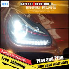 jgrt car style led headlights for porsche cayenne 2004 2006 for
