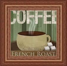 Decorating French Roast Coffee Kitchen Wall Art Decor In Wooden Frame
