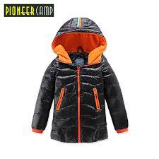 Pioneer Camp Kids 2017 Boys Jacket Winter Down Clothes Teenage Girls Coats Children Outerwear