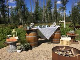 Rustic Barrels Benches And Bars For Weddings