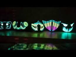 EQ CURVE Futuristic DJ Mask Orbit Light Show Rave Mask Light Up