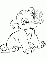 Baby Lion Coloring Pages The King Printable 2