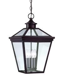 Wide Outdoor Hanging Light With 4 Lamps