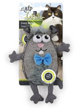 All for Paws Catzilla Crinkle Cuddler Cat Toy, Color Varies