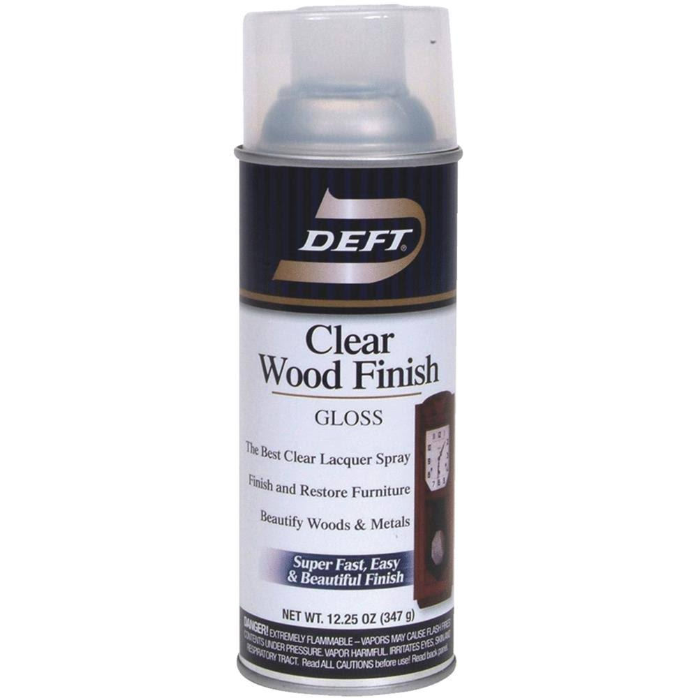 Deft Clear Lacquer Wood Finish Gloss - 12.25oz