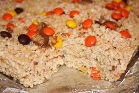 Rice Krispie Halloween Treats Candy Corn by Julie Bakes Halloween Rice Krispie Treats