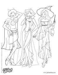 Coloriage Le Trio Infernal Totally Spies JeColoriecom