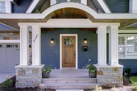 House Entrance Ideas Exterior Traditional With Wood Siding Front Door Outdoor Lighting