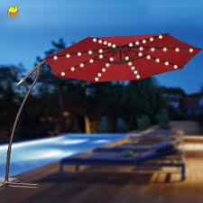 Solar Lighted Patio Umbrella by Furniture Charming Cantilever Patio Umbrella For Patio Furniture