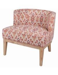 Galen KD Fabric Accent Chair Natural Legs, Sundried Ikat