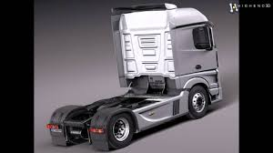 Mercedes Actros Truck 2014 3D Model From CreativeCrash.com - YouTube