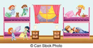 Bedroom Clipart by Vector Clip Art Of A Sleeping In His Bedroom Illustration Of