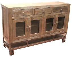 Industrial Style Tv Stand Rustic Forged Iron Base Sideboard On Wheels Buffets And