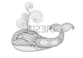 Hand Drawn Whale Style For Coloring Paget Shirt Design Effect Tattoo And So