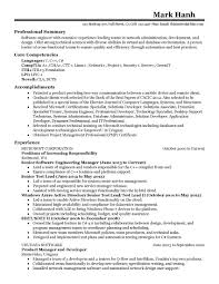 Field Application Engineering Manager Resume New Examples Resumes Program
