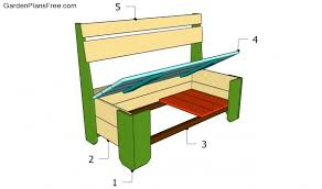 garden storage bench plans free garden plans how to build