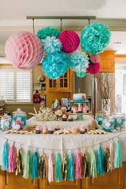 Birthday Party Decoration Ideas Mermaid Themed Parties Splendid Impression 25 Unique Decorations Diy And 2