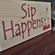 Wine Sign Home Decor Kitchen Funny Wooden Signs