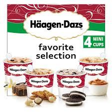 haagen dazs 4 mini pots favorite selection vanilla caramel
