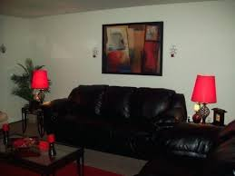 stylish red and black living room decor red decor red and black