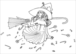 Click To See Printable Version Of Candy Witch Coloring Page
