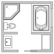 45 Ft Bathroom by Floor Plan Options Bathroom Ideas U0026 Planning Bathroom Kohler