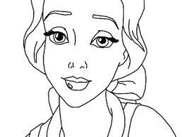 Belle Sad Face Disney Princess A546 Coloring Pages Printable