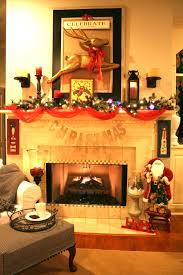 Stone Fireplace Decorating Ideas Mantel Decor Featured Home Decorations Stylish Christmas Matel With Elegant White Also Chic Gray Couch