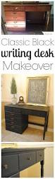 Pottery Barn Desks Used by Classic Black Desk Makeover Classy Clutter