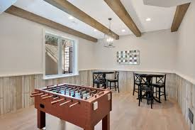 100 Beams On Ceiling Game Room Design Gets Real With Faux Wood Workshop