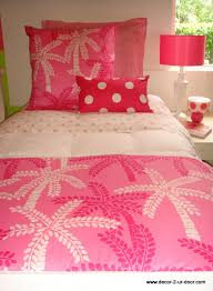 Lily Pulitzer Bedding by Custom Lilly Pulitzer Pink Palm Tree Dorm Room Bedding Set Decor