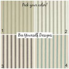 Green Striped Curtain Panels by Curtains Pair 50