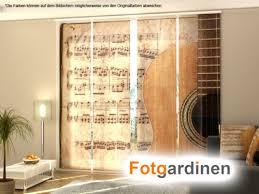 fotogardinen gitarre schiebevorhang schiebegardinen 3d
