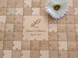 96 Pieces Rustic Wedding Guest Book Puzzle Alternative