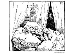 Beautiful Ideas Vintage Coloring Pages Sleeping Christmas Carol A Free Page