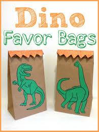 Melissa And Doug Dinosaur Floor Puzzles by Diy Dinosaur Birthday Party Party Favor Bags Melissa U0026 Doug Blog