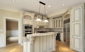Lovely White Kitchen Cabinets With Granite Antique White Kitchen