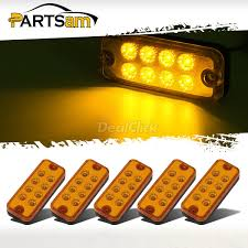 100 Truck Marker Lights Details About 5x 4 8LED Clearance Side Light Indicator Lamp Trailer Lorry Amber