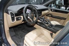 2018 Porsche Cayenne interior and dashboard at IAA 2017 Indian