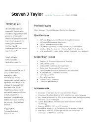 Resume Objective For Manufacturing Automotive