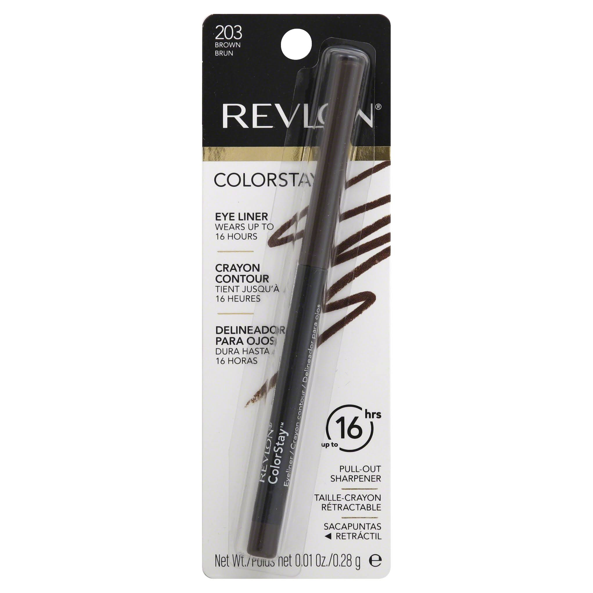 Revlon ColorStay Eyeliner With Sharpener - 203 Brown