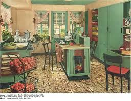 We Know That Many Of Our Readers Love 1940s Decor To Be Sure Theres A Lot Like For Example This Kitchen With Its Lovely Green Cabinetry