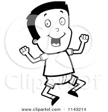 Pin Jump Clipart Excited Boy 12