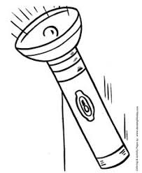 Flashlight Coloring Book Page