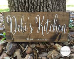 Kitchen Sign Personalized Gift Housewarming Decor Wall
