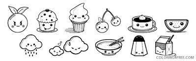Kawaii Coloring Pages Od Fruits Coloring4free Coloring4Free