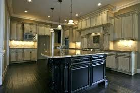 Antiqued White Cabinet Traditional Luxury Kitchen With Antique