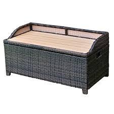 Suncast Resin Deck Box 50 Gallon by Amazon Com Tangkula Wicker Deck Box 50 Gallon Patio Outdoor Pool
