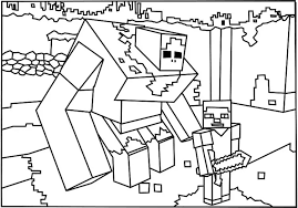 Coloring Page Minecraft Video Games 80